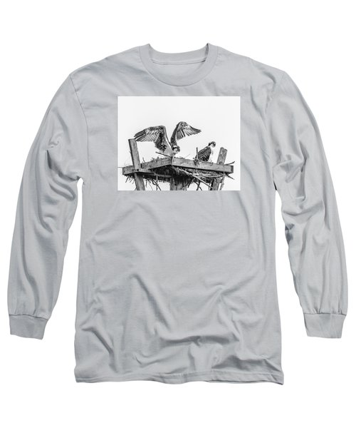 Ready To Fly Bw Long Sleeve T-Shirt