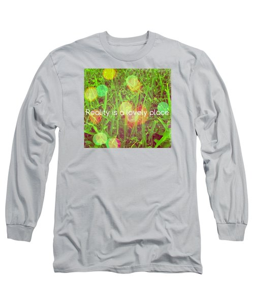 Reality Long Sleeve T-Shirt by Artists With Autism Inc