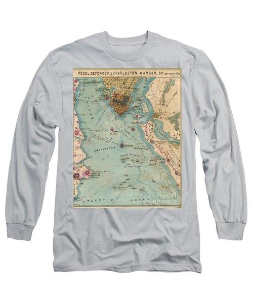 Rebel Defenses Of Charleston Harbor Long Sleeve T-Shirt
