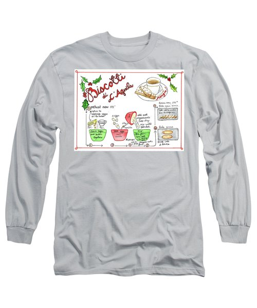 Recipe Biscotti Long Sleeve T-Shirt
