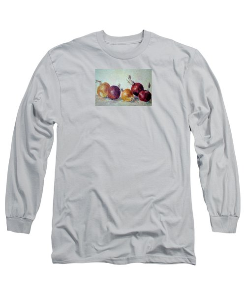 Red And Yellow Onions Long Sleeve T-Shirt by Jill Musser