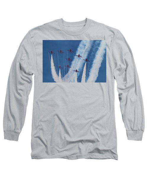 Red Arrows At Duxford Long Sleeve T-Shirt