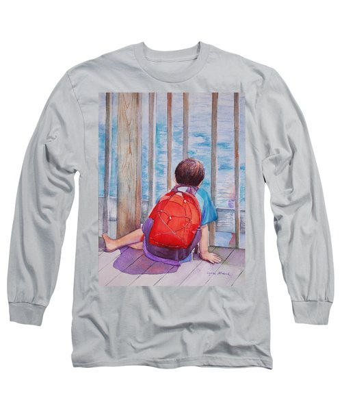 Red Backpack Long Sleeve T-Shirt