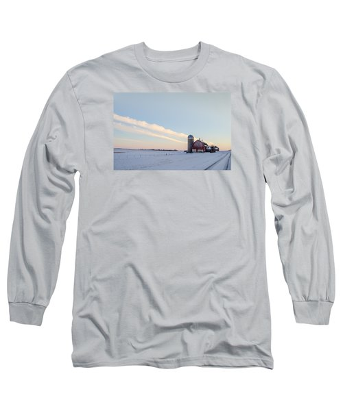 Long Sleeve T-Shirt featuring the photograph Red Barn by Dan Traun
