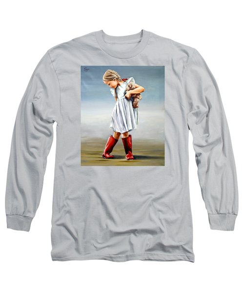 Red Boots Long Sleeve T-Shirt by Natalia Tejera