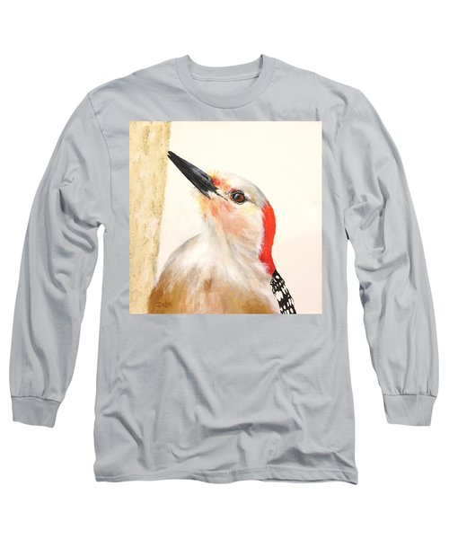 Red Breasted Woodpecker Long Sleeve T-Shirt