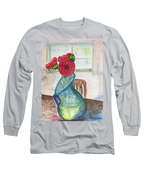 Red Carnations Long Sleeve T-Shirt