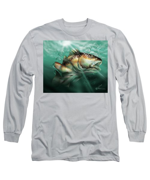 Red Drum Long Sleeve T-Shirt by William Love