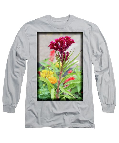 Red Fusion Long Sleeve T-Shirt by Deborah Klubertanz
