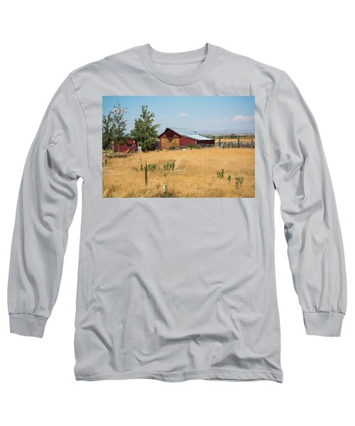 Red Home On The Range Long Sleeve T-Shirt