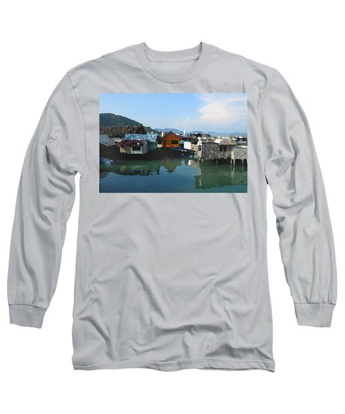 Red House On The Water Long Sleeve T-Shirt
