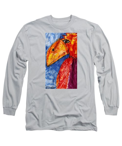 Red Parrot Long Sleeve T-Shirt by Don Koester