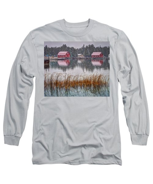 Red Reflection Long Sleeve T-Shirt