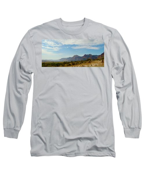 Red Rock Morning Panorama Long Sleeve T-Shirt