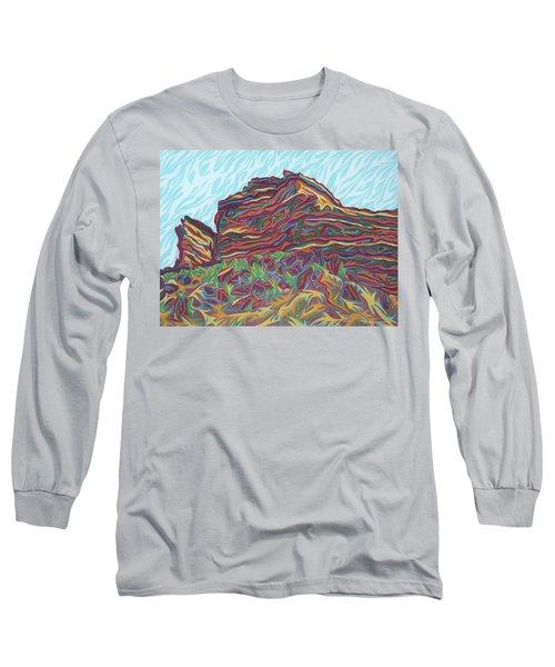 Red Rocks Long Sleeve T-Shirt by Robert SORENSEN