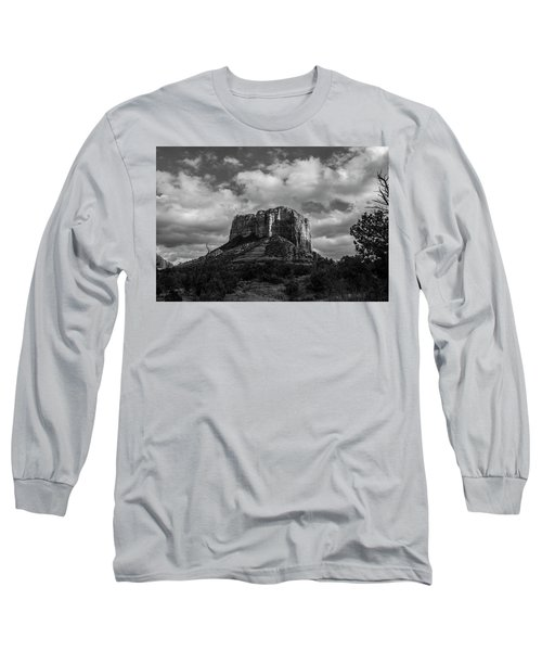 Red Rocks Sedona Bnw 1 Long Sleeve T-Shirt by David Haskett