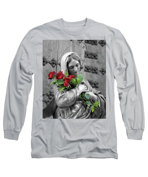 Red Roses Long Sleeve T-Shirt by Munir Alawi