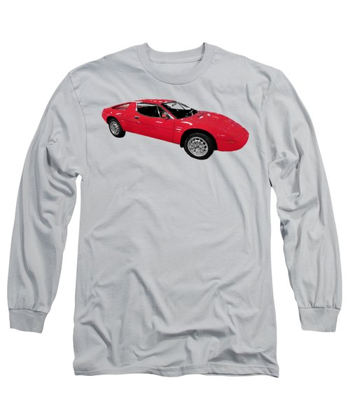 Red Sport Car Art Long Sleeve T-Shirt