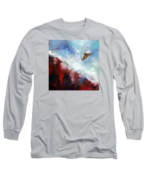 Long Sleeve T-Shirt featuring the painting Red Tail by David  Maynard