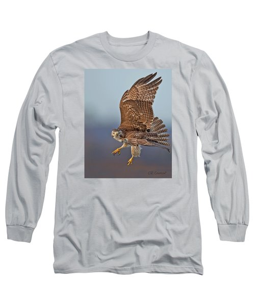 Red-tailed Hawk In Flight Long Sleeve T-Shirt by CR  Courson