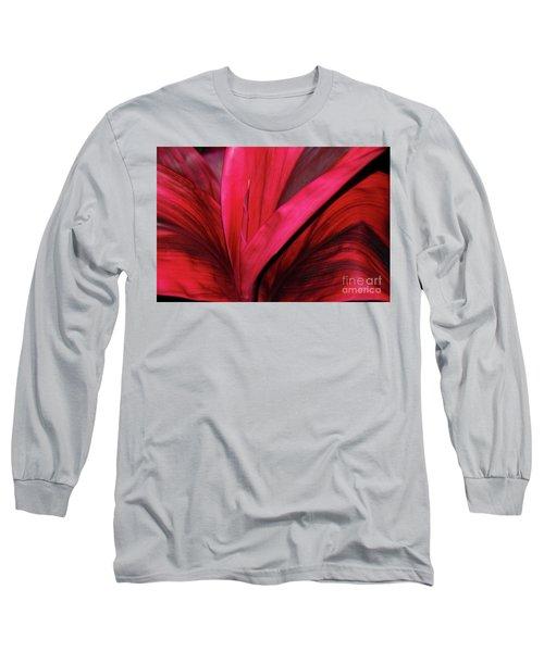 Red Ti Leaf Plant - Hawaii Long Sleeve T-Shirt