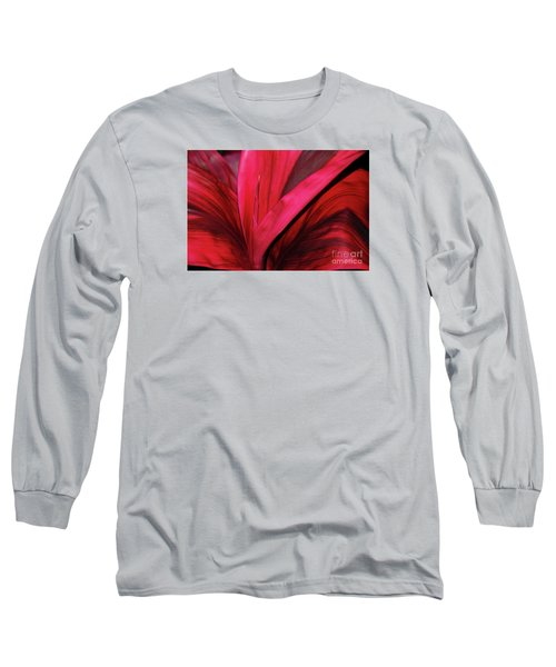 Red Ti Leaf Plant - Hawaii Long Sleeve T-Shirt