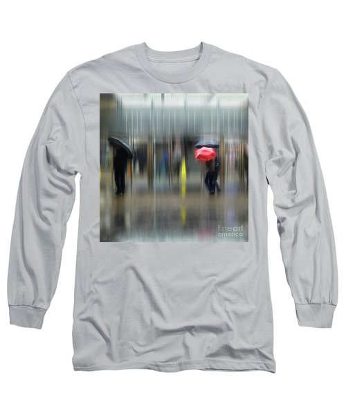 Long Sleeve T-Shirt featuring the photograph Red Umbrella by LemonArt Photography
