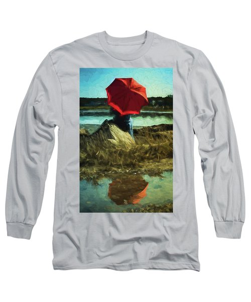 Red Umbrella Long Sleeve T-Shirt
