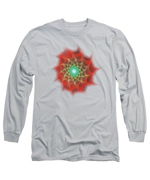 Red Web Long Sleeve T-Shirt