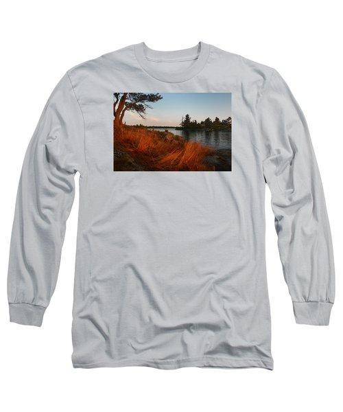Red Wild Grass Georgian Bay Long Sleeve T-Shirt