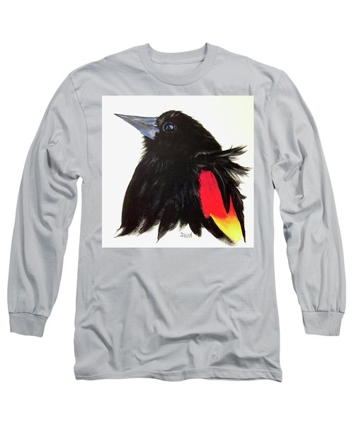 Red Winged Blackbird Long Sleeve T-Shirt