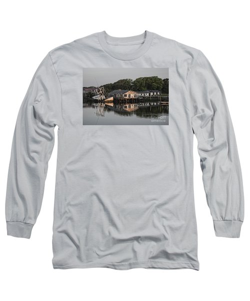 Reflection Noitcelfer Long Sleeve T-Shirt by Roberta Byram