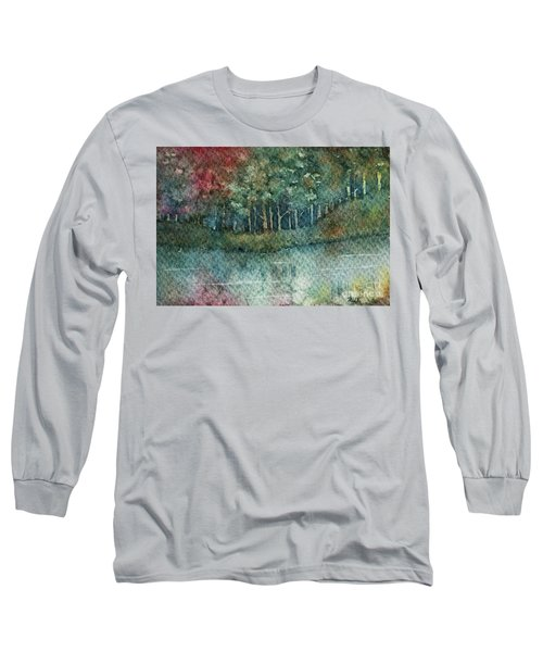 Reflections Along The Water Long Sleeve T-Shirt