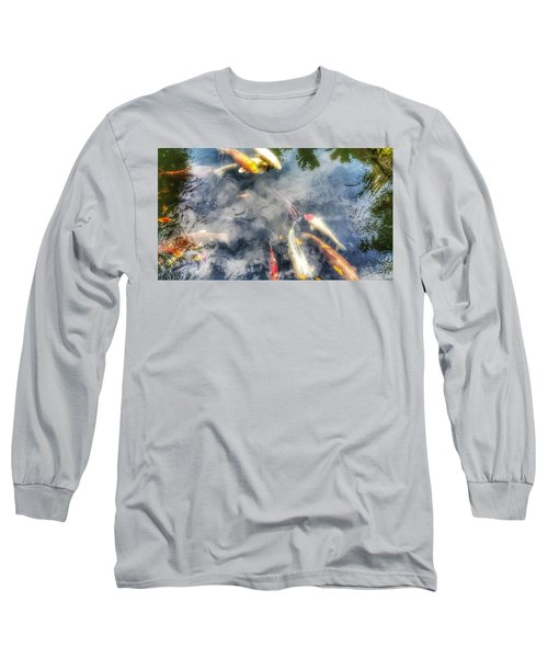 Reflections And Fish 4 Long Sleeve T-Shirt by Isabella F Abbie Shores FRSA