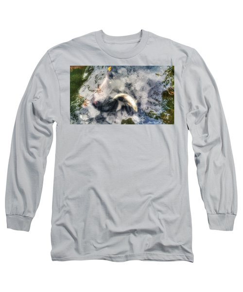 Reflections And Fish 8 Long Sleeve T-Shirt by Isabella F Abbie Shores FRSA