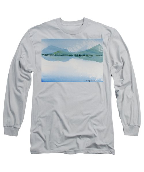 Reflections Of The Skies And Mountains Surrounding Bathurst Harbour Long Sleeve T-Shirt