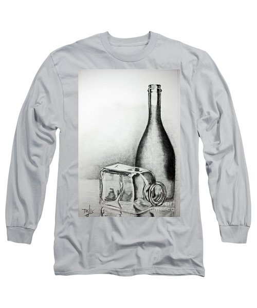 Long Sleeve T-Shirt featuring the drawing Reflections by Terri Mills