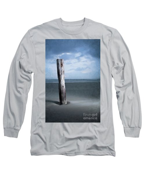 Long Sleeve T-Shirt featuring the painting Remnant Of The Past On Outer Banks Ap by Dan Carmichael