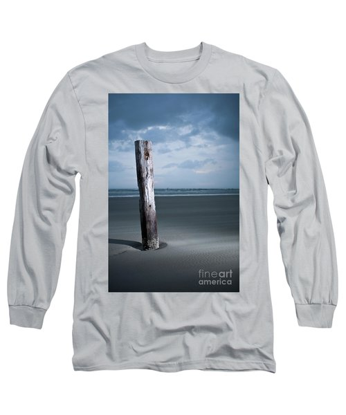 Long Sleeve T-Shirt featuring the photograph Remnant Of The Past On Outer Banks by Dan Carmichael