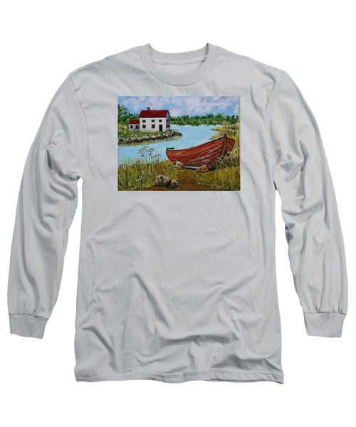 Retired Long Sleeve T-Shirt by Mike Caitham