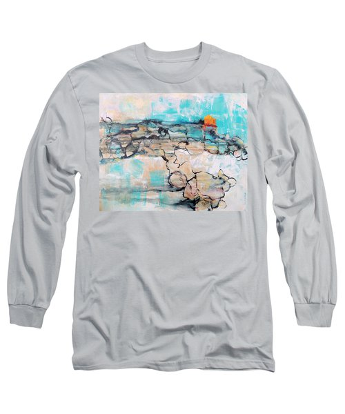Long Sleeve T-Shirt featuring the painting Retreat by Mary Schiros