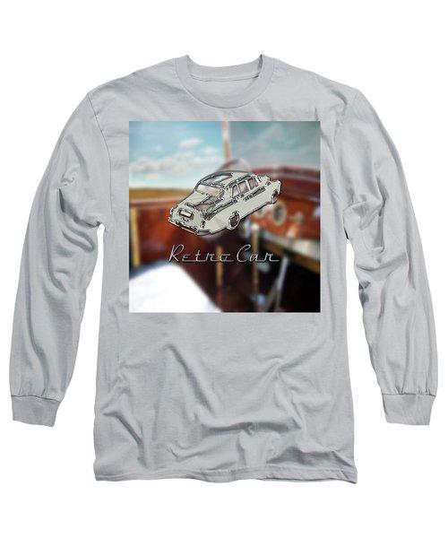 Retro Car Long Sleeve T-Shirt by La Reve Design