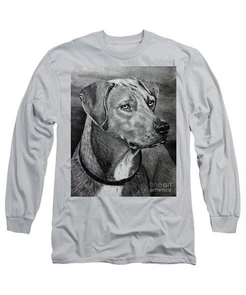 Long Sleeve T-Shirt featuring the drawing Rhodesian Ridgeback by Terri Mills
