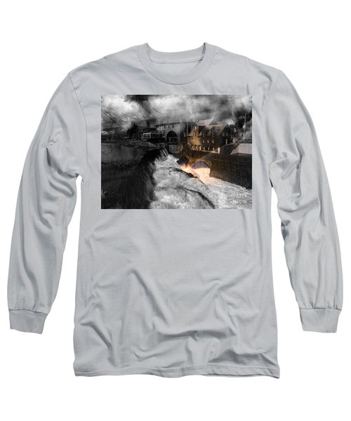 Rainbow In The Mist Long Sleeve T-Shirt by Sherman Perry