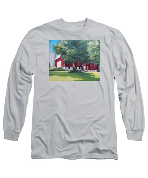 Long Sleeve T-Shirt featuring the painting Rich's Barn by Carol Hart