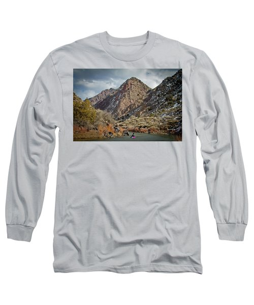 Long Sleeve T-Shirt featuring the photograph Rio Grande Racecourse In Winter by Atom Crawford