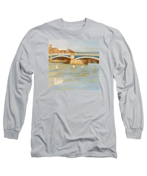 River At Royal Windsor Long Sleeve T-Shirt by Joanne Perkins