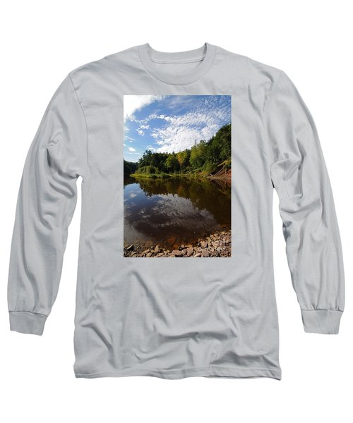Long Sleeve T-Shirt featuring the photograph River Beauty by Sandra Updyke