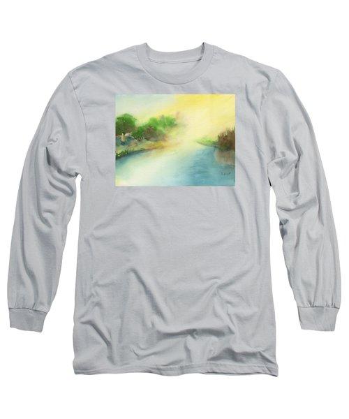 River Morning Long Sleeve T-Shirt by Frank Bright