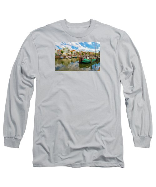 River Scene In Rotterdam Long Sleeve T-Shirt